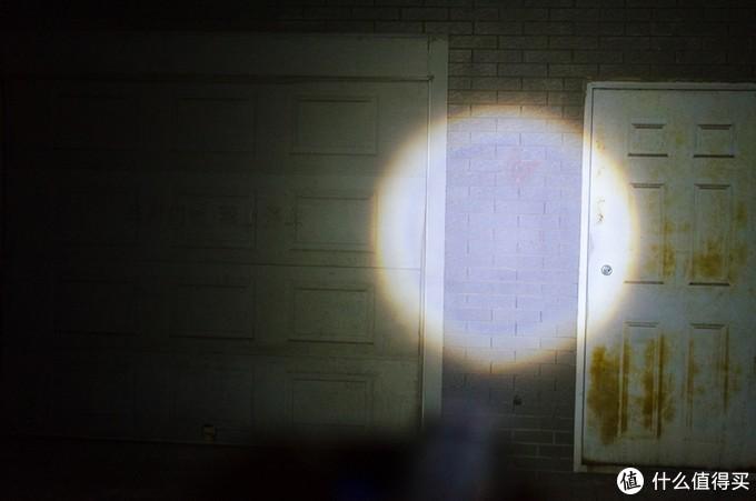 离墙5米,最大光斑