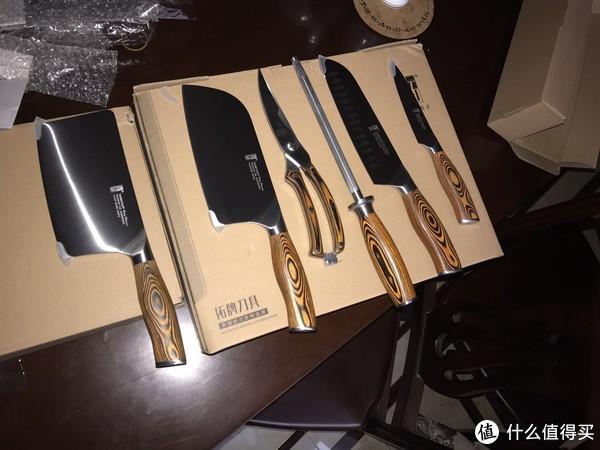 TUOBITUO 拓牌 火鸟系列 厨房刀具套装组合 8件套 开箱