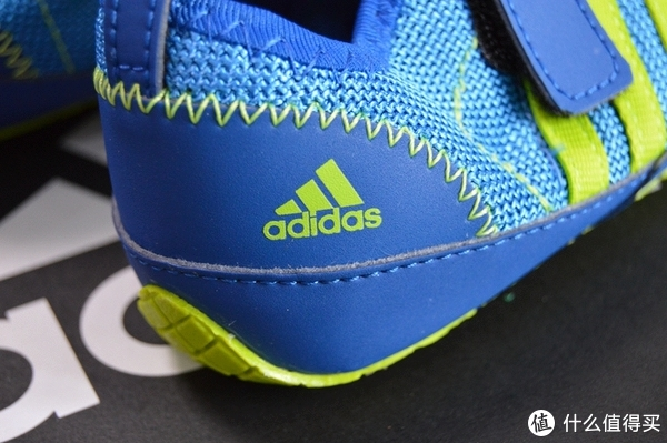 #全民分享季#adidas 阿迪达斯 户外童鞋 蓝AF3913 试穿体验