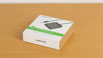 绿联 延长桌面 读卡器包装外观(插槽|触点|线材)