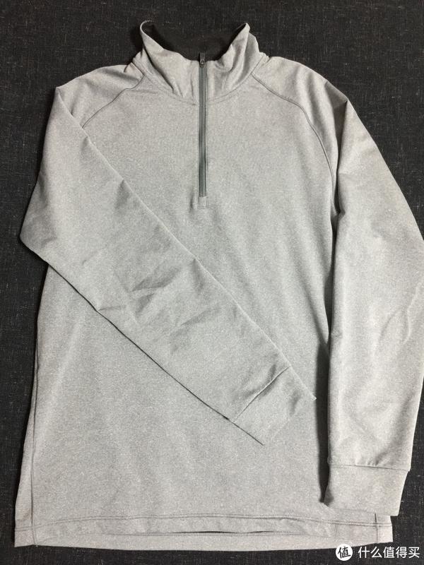 同一个款式为什么要买四件—UNIQLO 优衣库 DRY-EX warm 男款半拉链T恤 晒单