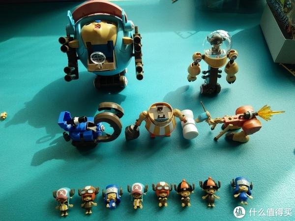 #全民分享季#超萌物来袭——万代乔巴机器人五件全套二代(内含一代)
