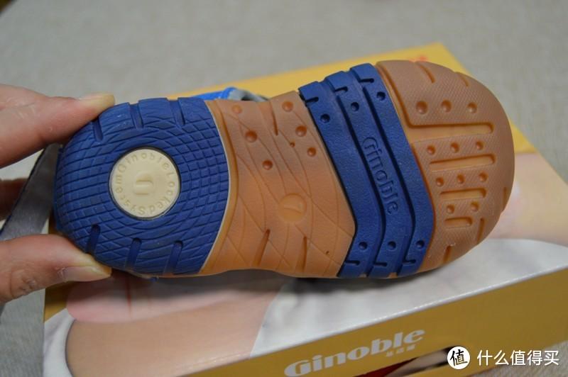 #全民分享季#Ginoble 基诺浦 包头沙滩鞋 TXG3003宝蓝 试穿体验