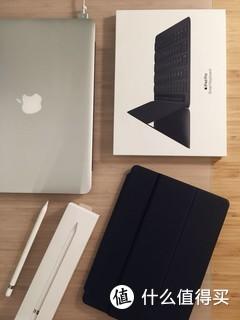 """iPad Pro 10.5 英寸日常通勤全家桶,包含一个Smart Keyboard 和一支 Apple Pencil,整套配合使用流畅程度媲美 MacBook,""""随时随地拿出来工作""""需求完全满足——本人日常是写写画画发邮件。不太满意的是 keyboard 的手感,因为要做薄,按键很浅,按键之间空隙太大也不是很爽。我手很小,键盘大小也就刚刚好,偶尔还是会误按。香港苹果店购入。"""