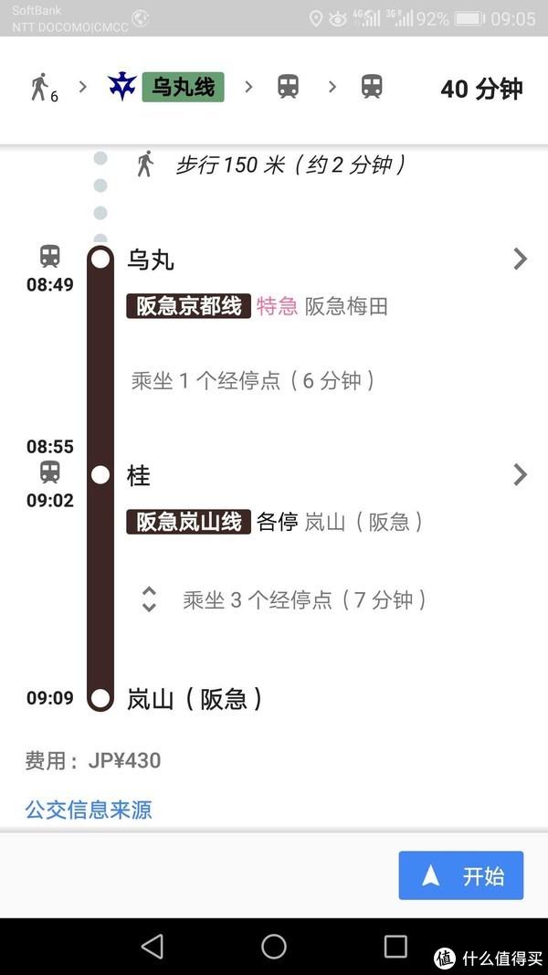 坐阪急线到岚山