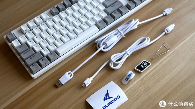 还原键盘最初的本色——DURGOD杜伽 Taurus(金牛座)K310 天然白 104键机械键盘