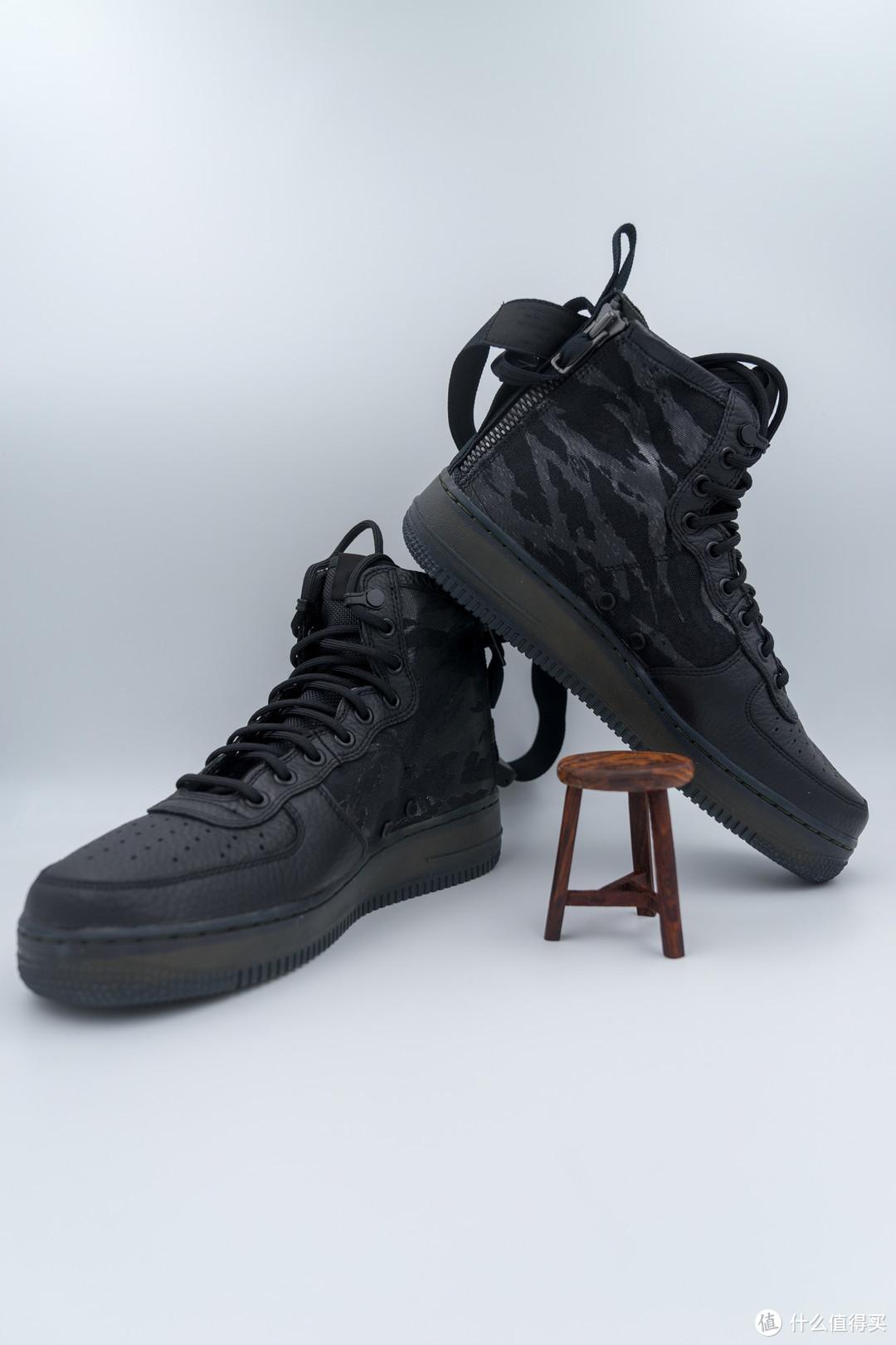 Nike 耐克首款后置双拉链鞋—Air Force 1 SF Mid 晒单