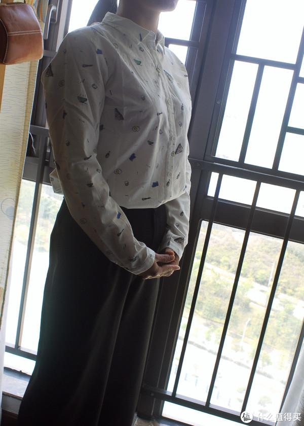 #全民分享季#家庭主妇的小衬衫:INMAN 茵曼 长袖女衬衫 晒单