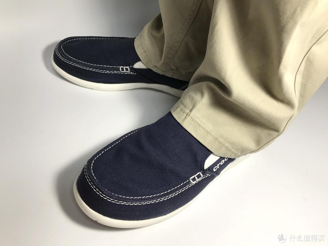 #全民分享季#舒适透气:Crocs 卡骆驰 一脚蹬 男士休闲帆布鞋 11270