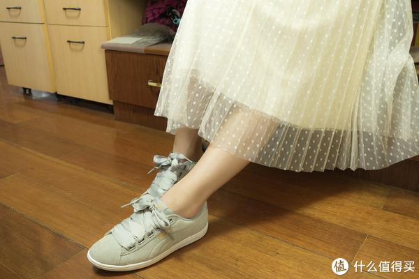 #全民分享季#超宽鞋带的风情了解一下?PUMA 彪马 Ribbon女鞋晒单