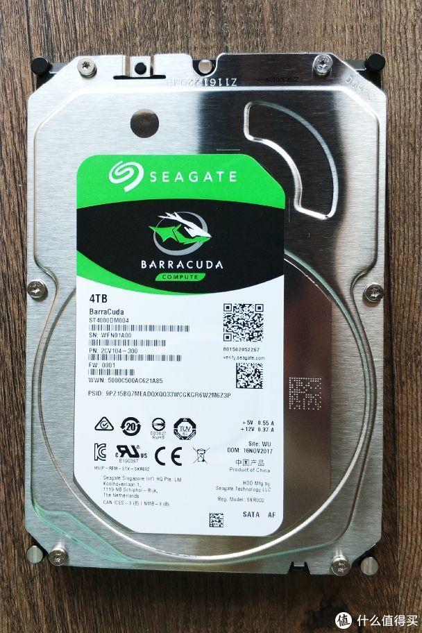 最便宜的4T盘:SEAGATE 希捷 酷鱼系列 4TB 台式机机械硬盘晒单