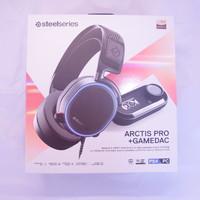 赛睿 Arctis 寒冰 Pro+GameDAC 游戏耳机开箱展示(上盖 配件 说明书 接口)