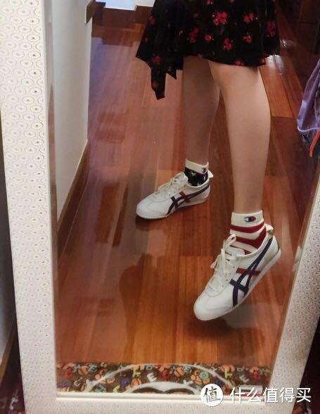 第一篇晒单:Onitsuka Tiger 鬼冢虎 Mexico66 烫金 运动休闲鞋