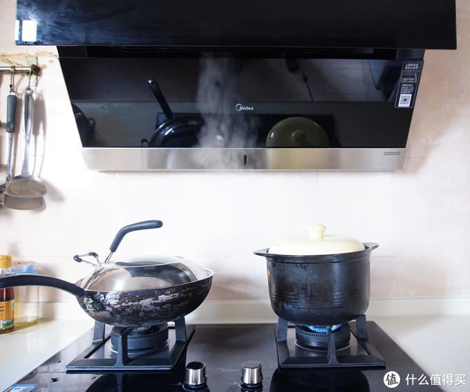 蒸汽洗是噱头?MIDEA 美的 极光侧吸式油烟机套装半年使用体验及油烟机选购建议