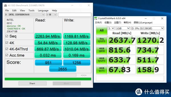 真的值?Intel 英特尔 760P M.2 256G NVME 固态硬盘 实测