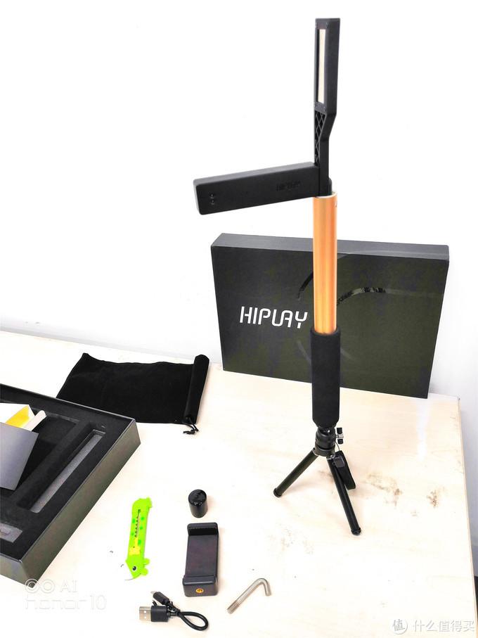 迷你脚架可以安装在伸缩杆上成为加高自拍杆