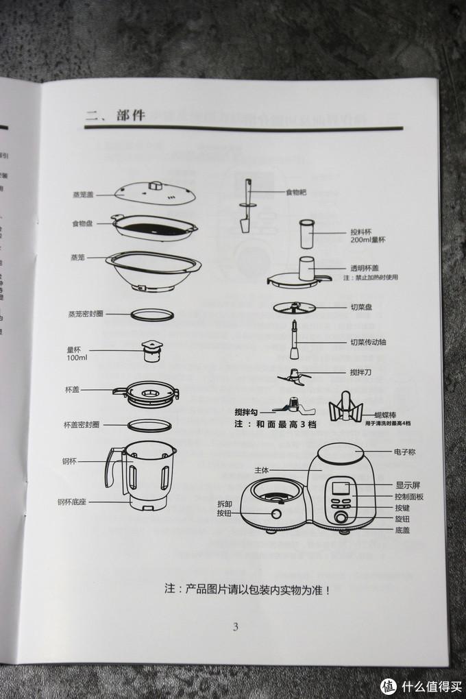 商品说明书-部件