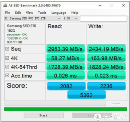 SAMSUNG 三星 970 evo 固态硬盘 250g版 开箱+安装+简单测试