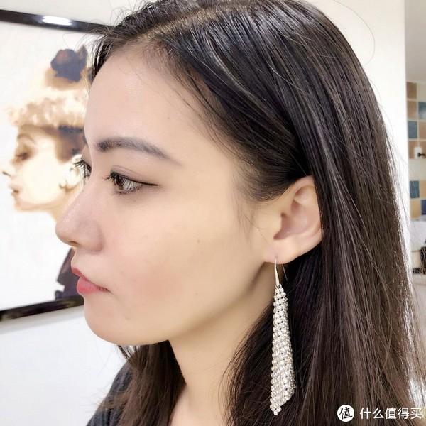 施华洛世奇水晶网布耳环
