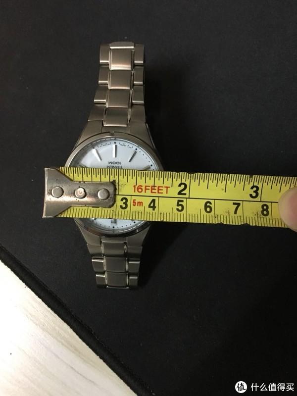 大妈首晒,精工sne375太阳能钛手表
