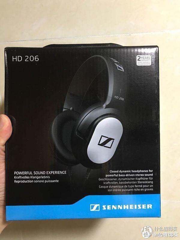 Sennheiser 森海塞尔 HD206 专业录音监听耳机开箱晒物分享