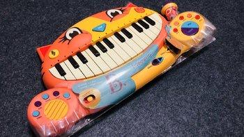 B.Toys 比乐 大嘴猫电子琴外观展示(琴面|猫眼|提手|按键)