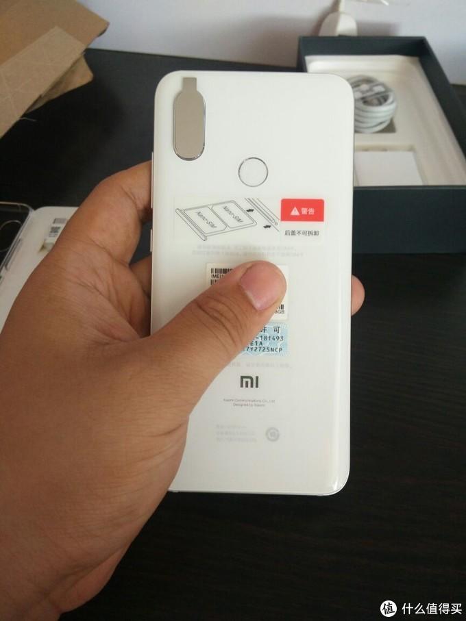 7,小米8手机背面