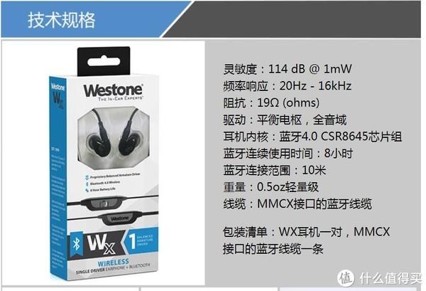 Westone 威士顿 Wx 蓝牙耳机 HIFI 入耳式耳机 简单开箱