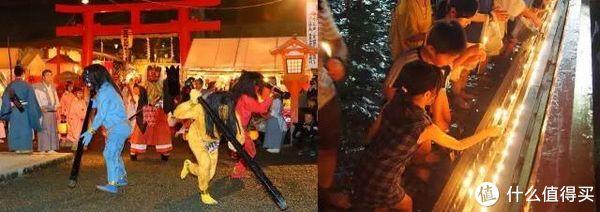 ▲左:吉田神社打鬼,右:下鸭神社御手洗祭