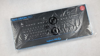 罗技 G610 机械键盘开箱展示(保护盖|说明书|保修卡|拔键器|插口)