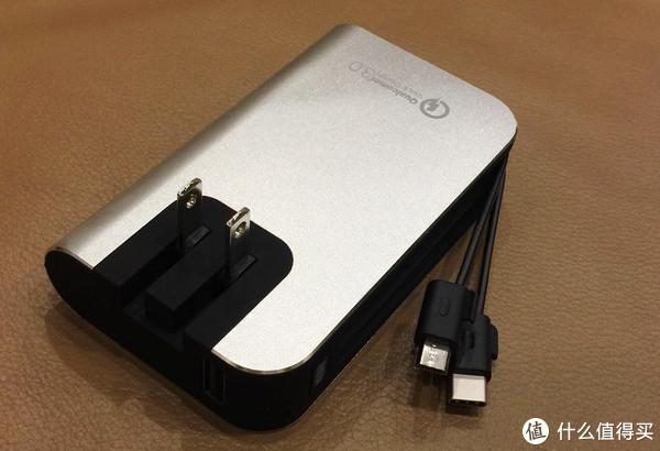 来自美国集成充电插头和充电线的高品质充电宝—myCharge HBQC 67V