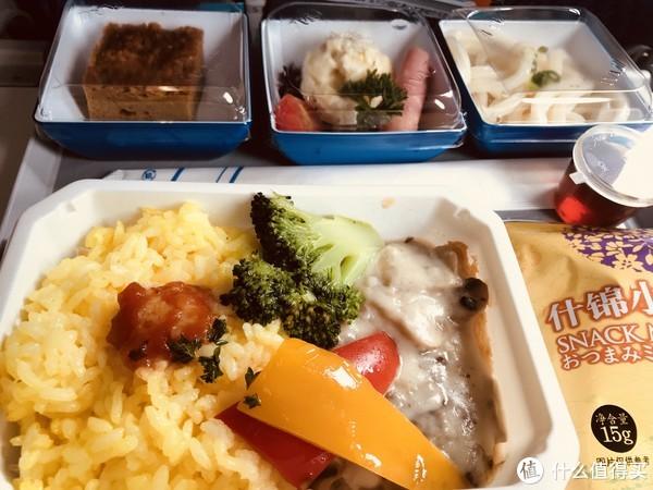 全日空飞机餐-右上蘸姜醋吃的乌冬面为全场最佳