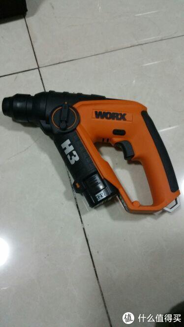 老大威克士wx382.8。这个带电锤功能,也是半价抢的,水泥地或者墙上打孔轻而易举,新入手的最爱!