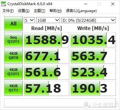 CrystalDiskMark测试