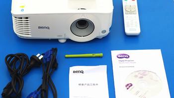 明基E580智能商务投影机包装展示(电源线|遥控器|接口|底座|遥控器)
