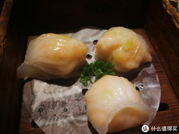 笼仔蒸虾饺皇,皮薄,通透,褶多