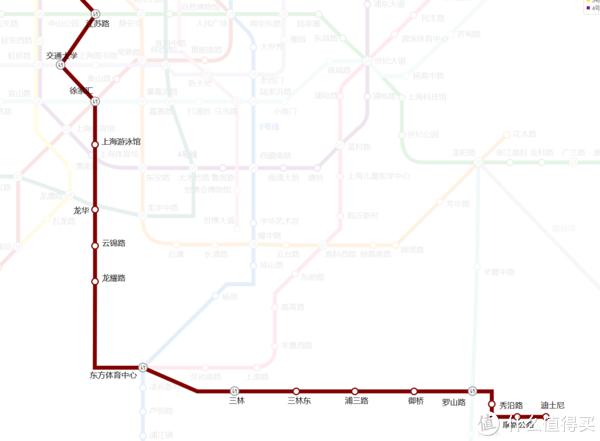 上海的地铁线路还是非常便捷的