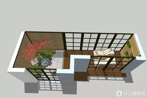 她家的阳台,让人仿佛置身于京都的庭院