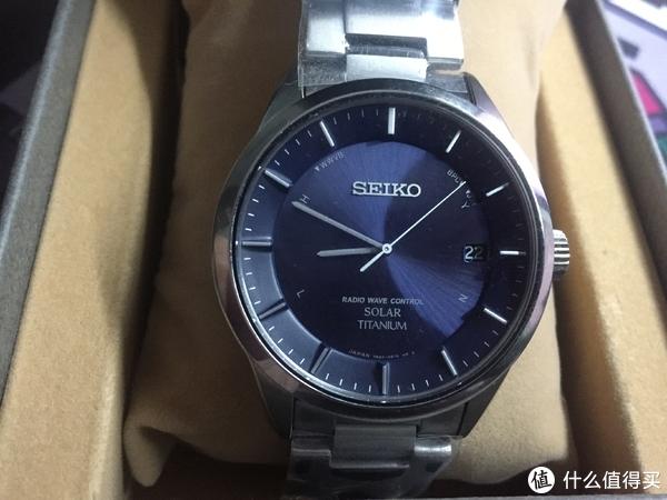 迟来的晒表:SEIKO 精工 SBTM209 男款光动能四局电波表开箱