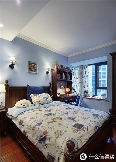 装修案例 篇三:表姐98平美式婚房,一进门就被惊艳了,两排储物柜美观又实用