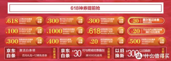▲ 以京东的笔电产品为例,有很多优惠券可以叠加和提前领取。