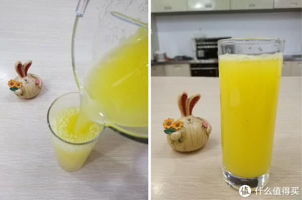 倒出来的果汁非常细腻。