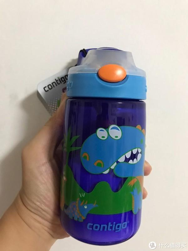 孩子夏天的又一个水杯一Contigo 康迪克 恐龙图案 儿童吸管杯晒物分享