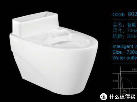 有水箱智能马桶