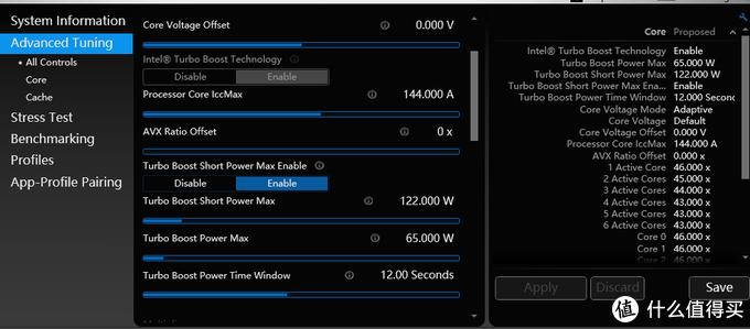 Core Voltage Offset Xtu
