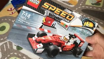 乐高 Speed Champions系列 75879 法拉利拼装展示(人仔|技术区|车头|车身|尾翼)