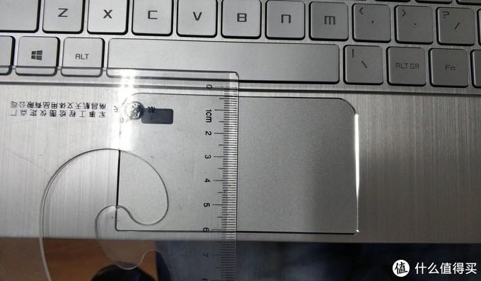 掌托宽度是6.4cm,其中触摸板宽度5.6cm