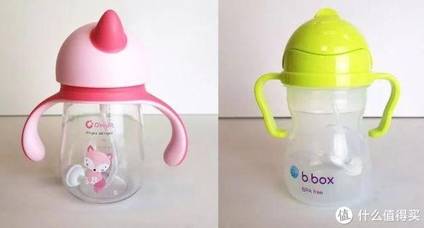 杯身材质为Tritan的O'right(左)&PP的b.box(右)