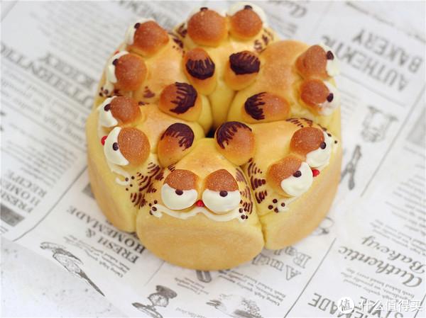炒鸡可爱的加菲猫造型卡通面包,一起来学着做吧