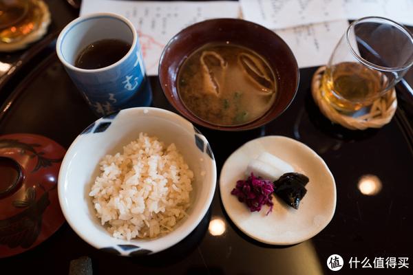 味增汤,姜丝饭,萝卜泡菜!